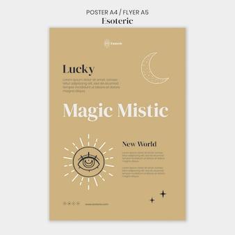 Modello di poster esoterico