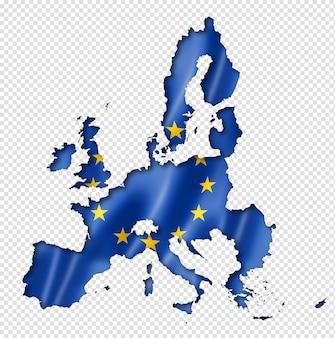Mappa della bandiera dell'unione europea