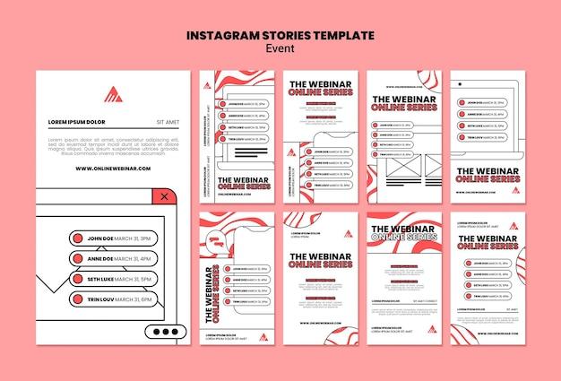 Eventi webinar online storie instagram