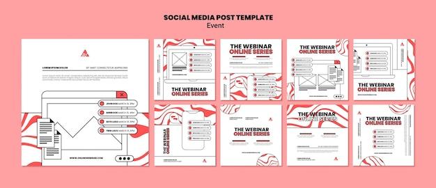 Evento webinar online post sui social media