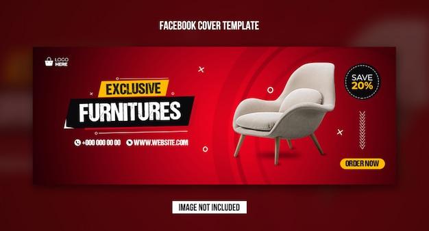 Modello di copertina facebook per vendita di mobili esclusivi