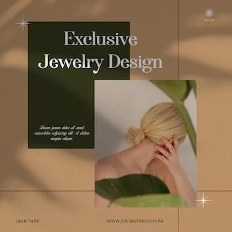 Esclusivo design di gioielli shop instagram modello di social media premium
