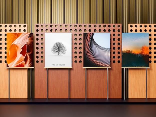 Presentazione del design del mockup della mostra