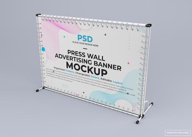 Mockup di banner per stand da parete espositiva