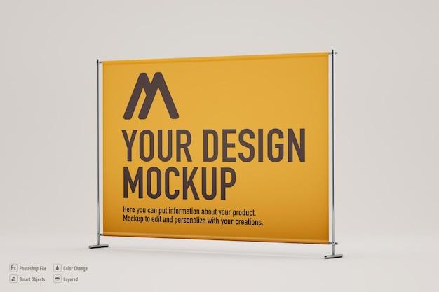 Mockup di banner espositore su colori tenui