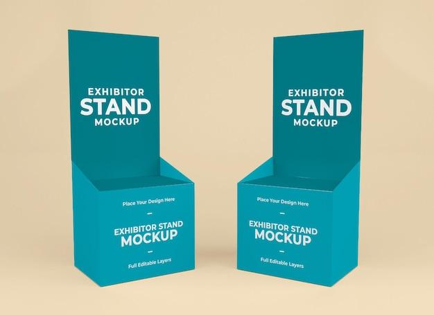 Design del modello mokup per stand espositore