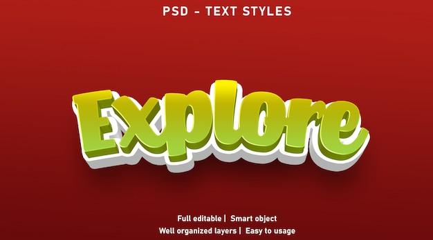Esplora lo stile degli effetti di testo