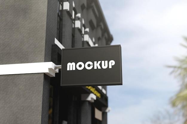 Mockup di segno di edificio esterno