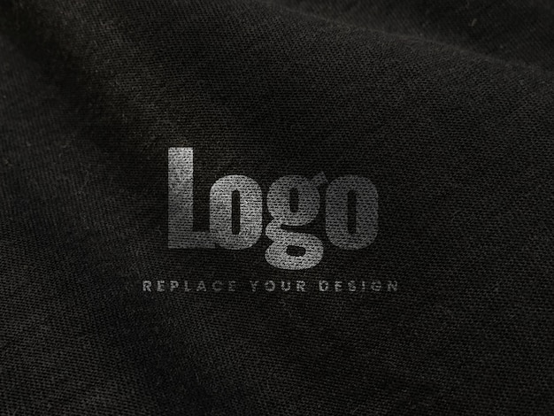 Tessuto tela stampa schermo logo mockup realistico