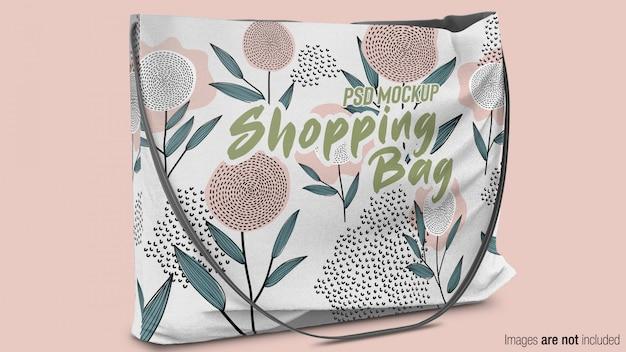 Borsa shopping in tessuto mockup