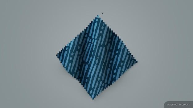 Tessuto swatch mockup con spilla