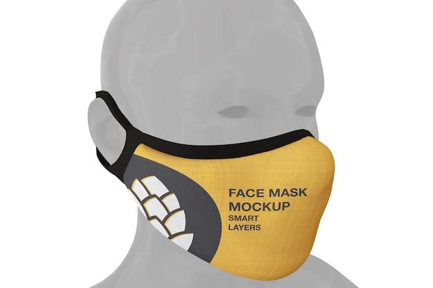 Design del mockup della maschera facciale nel rendering 3d