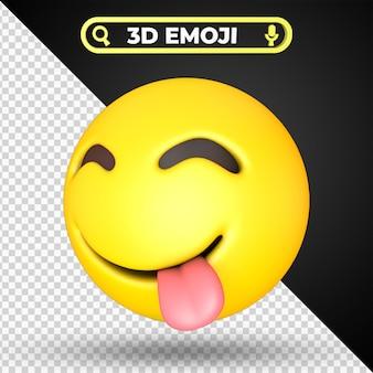 Faccia assaporando cibo delizioso emoji isolato
