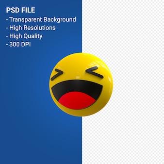 Facebook 3d reazioni emoji divertimento isolato