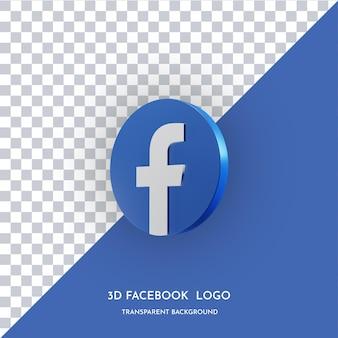 Icona di stile 3d dell'app facebook