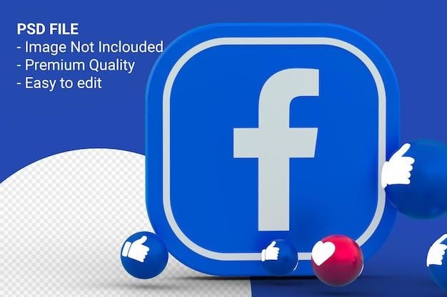 Icona di facebook e design delle reazioni di facebook