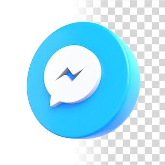 Icona di facebook messenger 3d