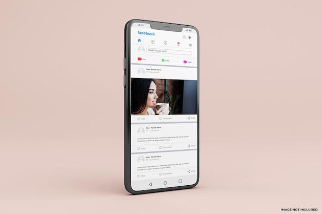 Modello di mockup dell'interfaccia mobile di facebook