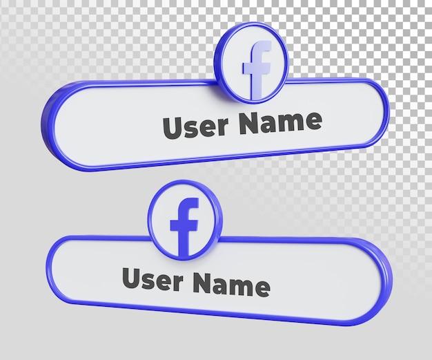 Modello di testo dell'etichetta del nome utente di facebook