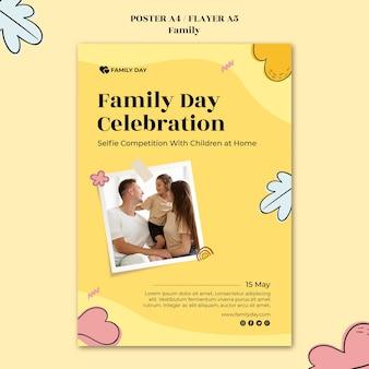 Modello di poster per la giornata della famiglia