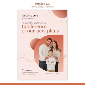 Modello di poster di design familiare
