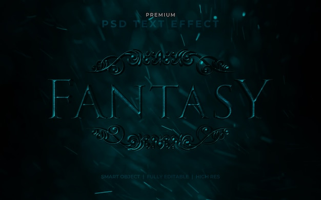 Mockup effetto testo psd fantasy