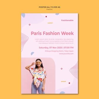 Modello di poster collezione di moda