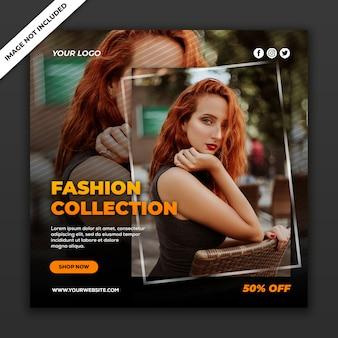 Collezione di moda nel modello di post di social media