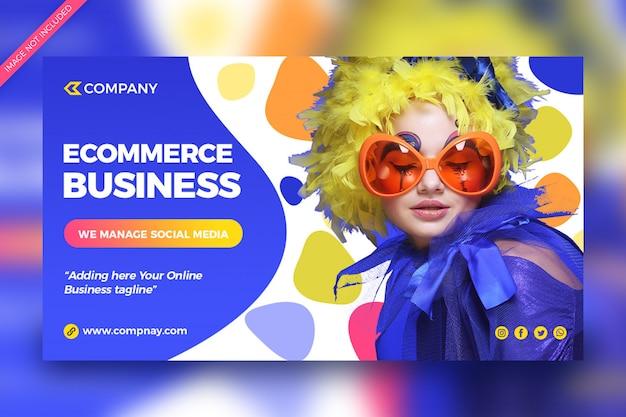 Banner di social media business ecommerce di moda