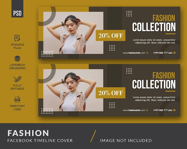 Copertina facebook di moda
