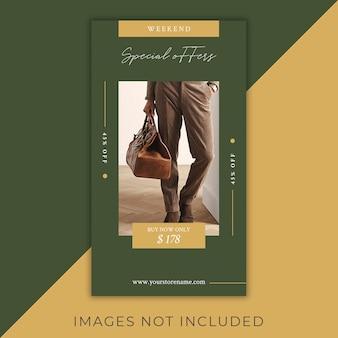 Storie di volantini fashion instagram moderni ed eleganti