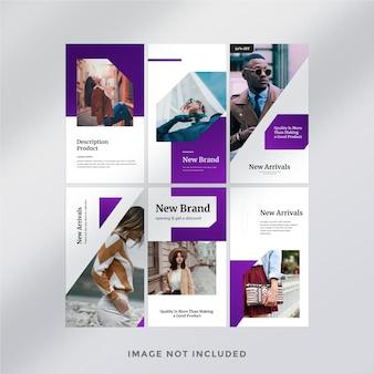 Modello di storie di instagram di moda