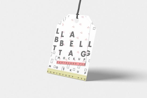 Mockup di tag etichetta di moda