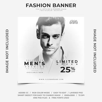 Bandiera di instagram sconto evento maschile di moda