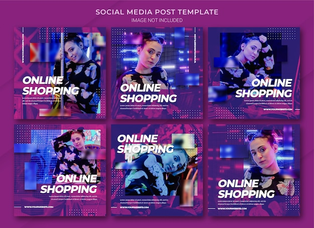 Modello di bundle di post di instagram per lo shopping online di moda