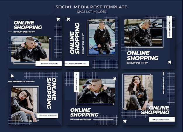 Modello di bundle post di instagram per lo shopping online di moda