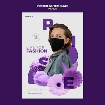 Modello di poster di moda