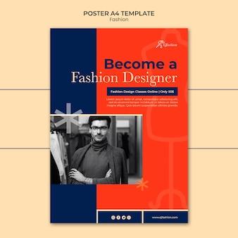 Modello di stampa di moda con foto