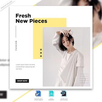 Modello di post di social media vendita di moda premium psd