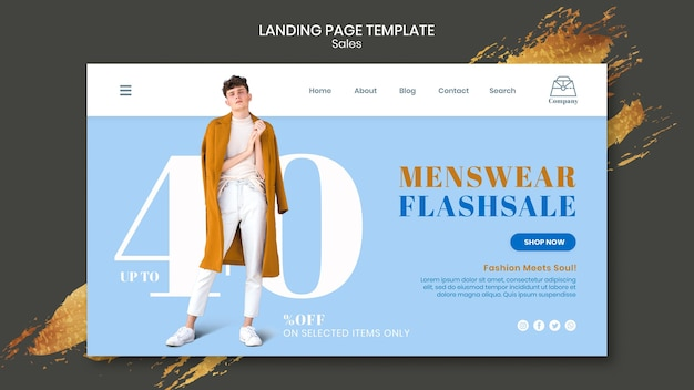 Modello di pagina di destinazione delle vendite di moda Psd Premium