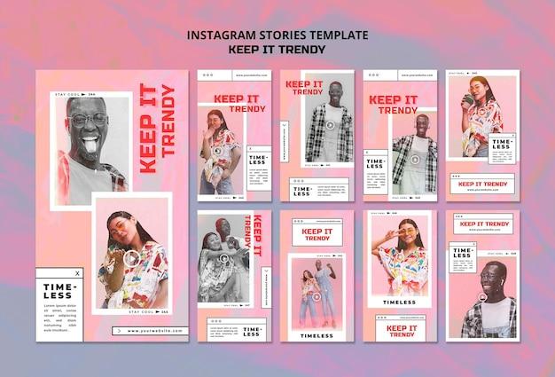 Modello di storie instagram negozio di moda