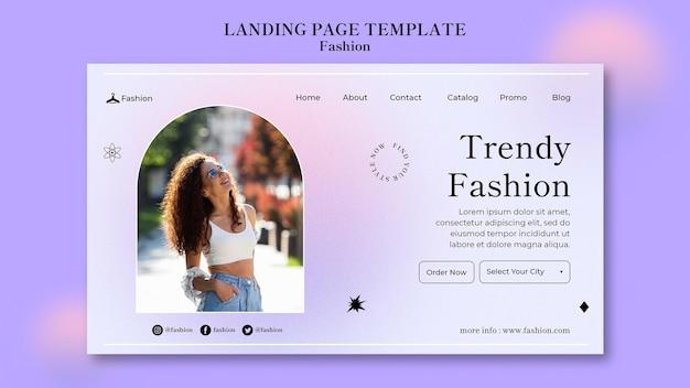 Pagina di destinazione di moda e stile