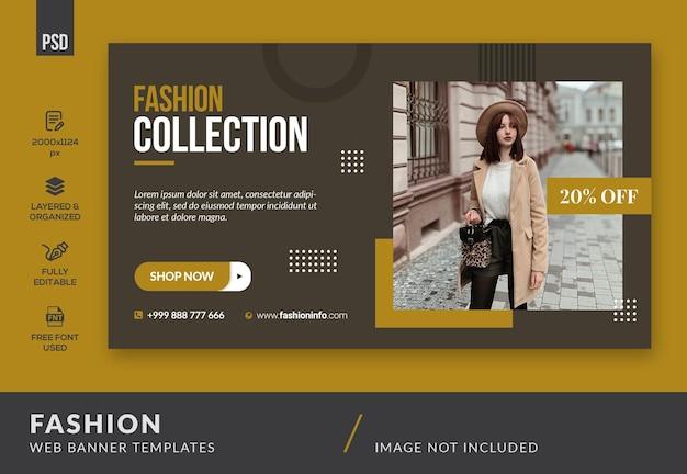 Banner web di moda