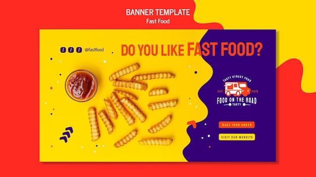 Modello di banner di fast food
