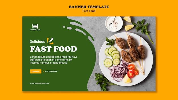 Modello di banner concetto di fast food