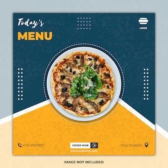 Post di modelli di social media culinari fast food