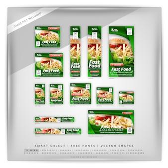 Fast food google e facebook banner
