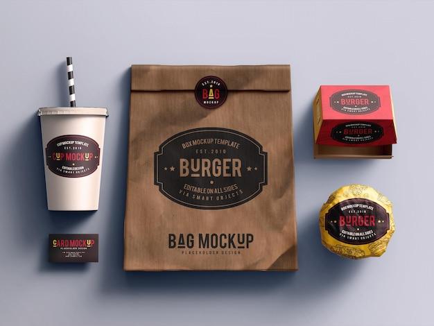 Mockup di fast food Psd Premium