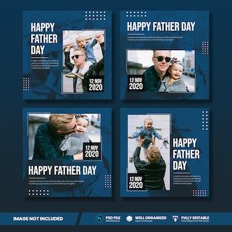 Collezione di banner per papà social media