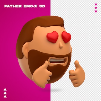 Padre emoji 3d design